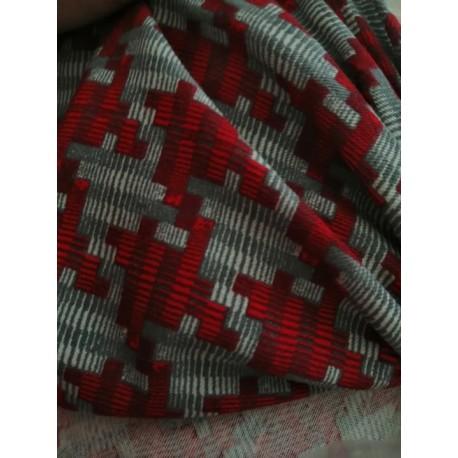 Šedá/červená CRAFT  100% bavlna