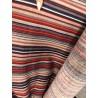 Látka Proužky granát/šedá/bordo 100% bavlna