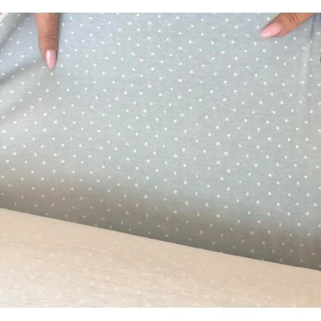 Látka Puntík drobný šedomodrá100% bavlna