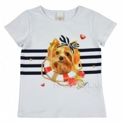 Halenka, tričko Pejsek bílé