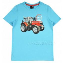 Tričko Traktor sv.tyrkys
