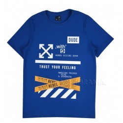 Tričko chlapecké REBEL tm.modrá  v.128-164