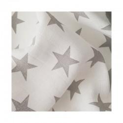 Plena, osuška bavlněná Prem 90x100 šedá hvězda