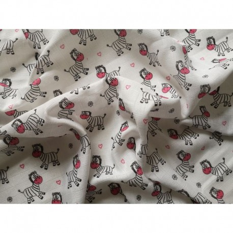 Plena, osuška bavlněná Prem 90x100 růž.zebra