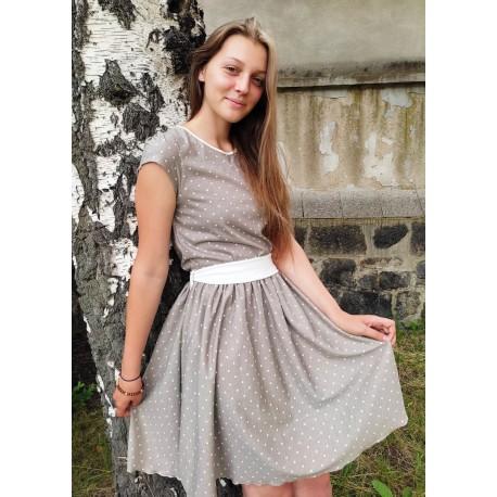 Šaty Týnka puntík béž